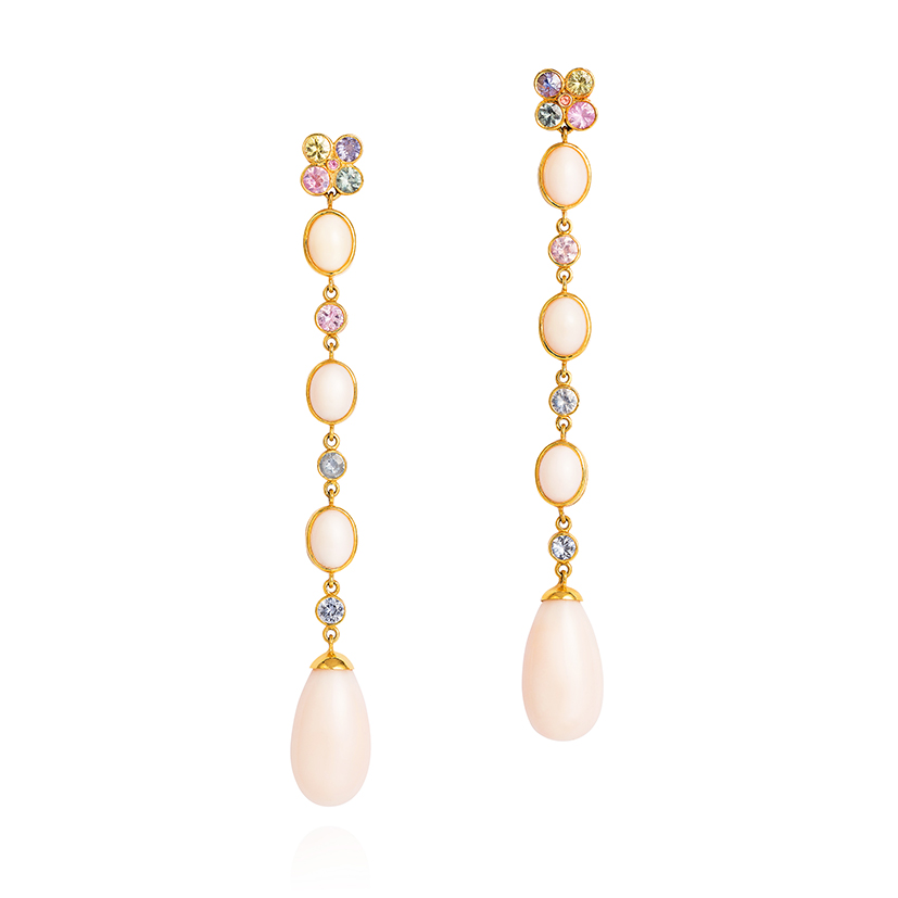 Amanda-Brighton-Wish-Earrings-fancy-sapphires-and-pale-pink-coral-from-the-Taiwan-Sea-in-18k-gold-1