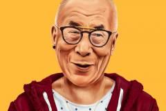 His Holiness the Dalai Lama by Amit Shimoni.
