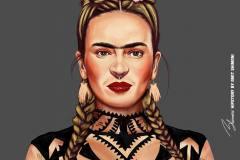 Frida Kahlo by Amit Shimoni.