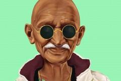 Mahatma Gandhi by Amit Shimoni.