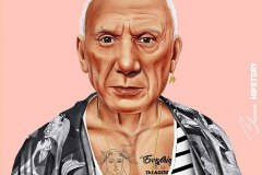 Pablo Picasso by Amit Shimoni.