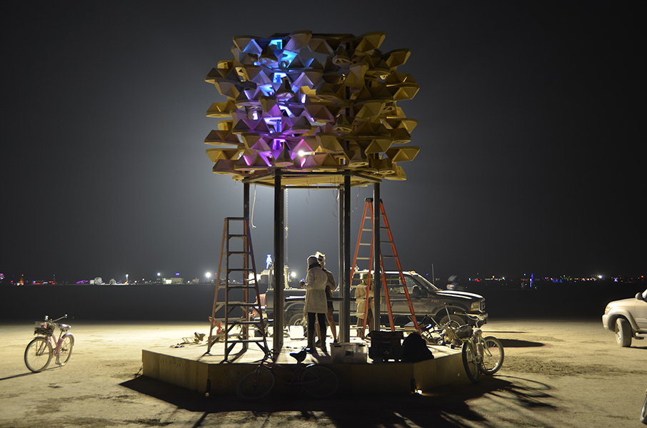 Big Pollinator Burning Man, 2018 - Photo by Josh Keppel