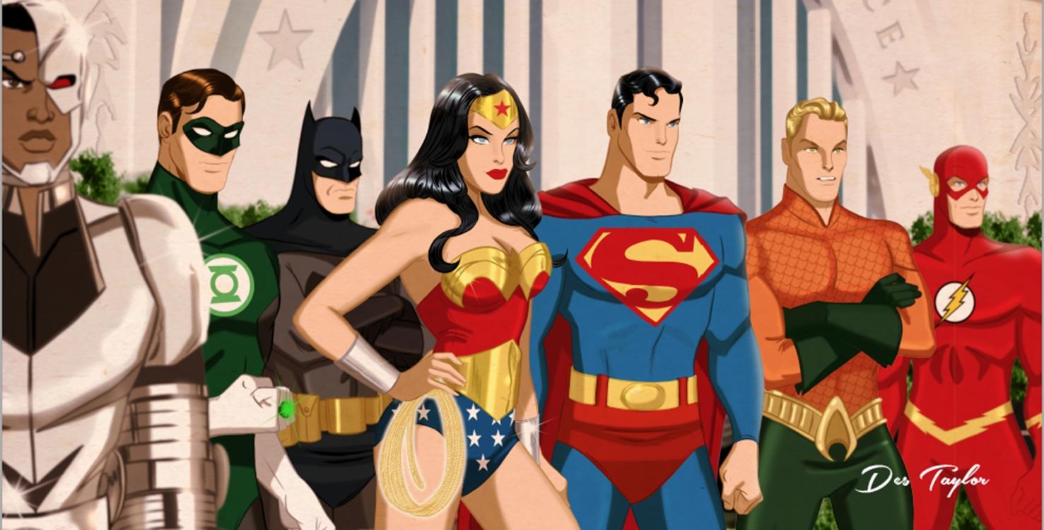 The Justice League by Des Taylor