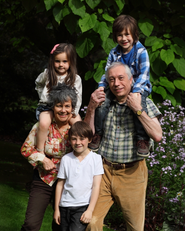 Marina and John D Chapman with their grandchildren | Photo by Carl Bromwich | Courtesy of Marina Chapman.