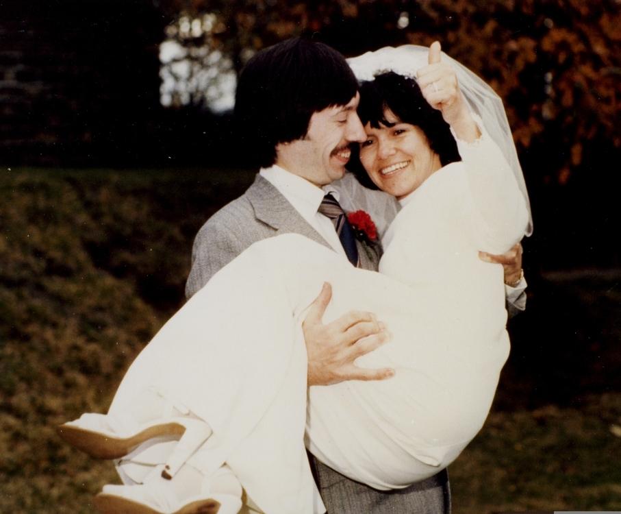 John and Marina Chapman wedding day | Photo courtesy of Marina Chapman.
