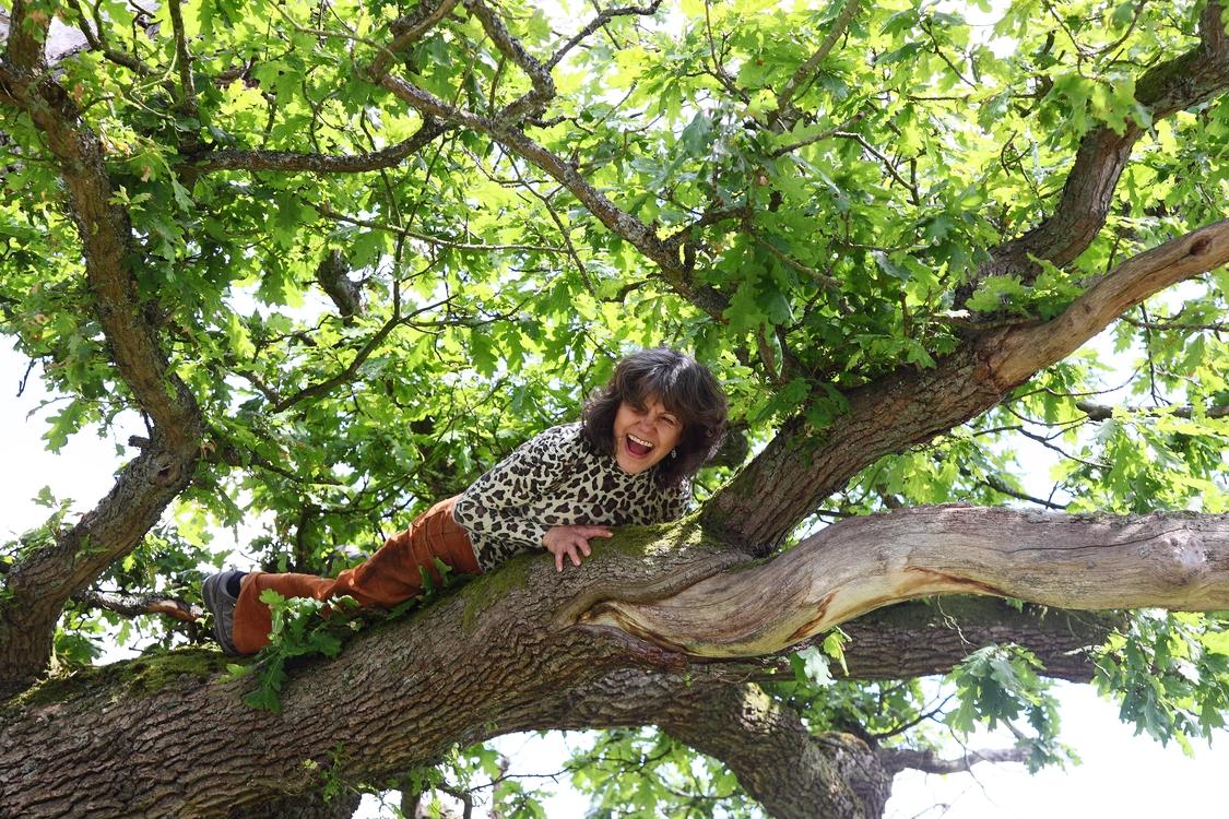Marina in a tree | Photo by John D. Chapman | Courtesy of Marina Chapman.