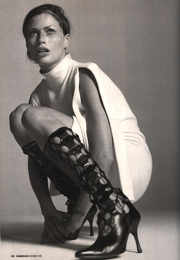 Cosmopolitan US November 1998 | Photographer: Tiziano Magni @ Print & Contact | Stylist: Enna Halie | Makeup: Yuki Wada | Hair: Dennis Lanni
